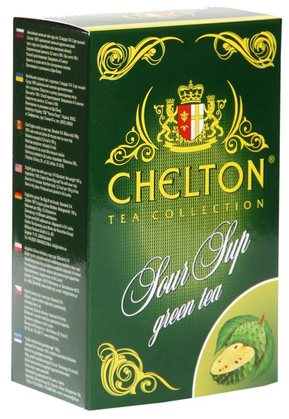 Чай Челтон зеленый с саусепом листовой 100 грамм