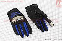 Перчатки L-черный/синий (сенсорный палец)