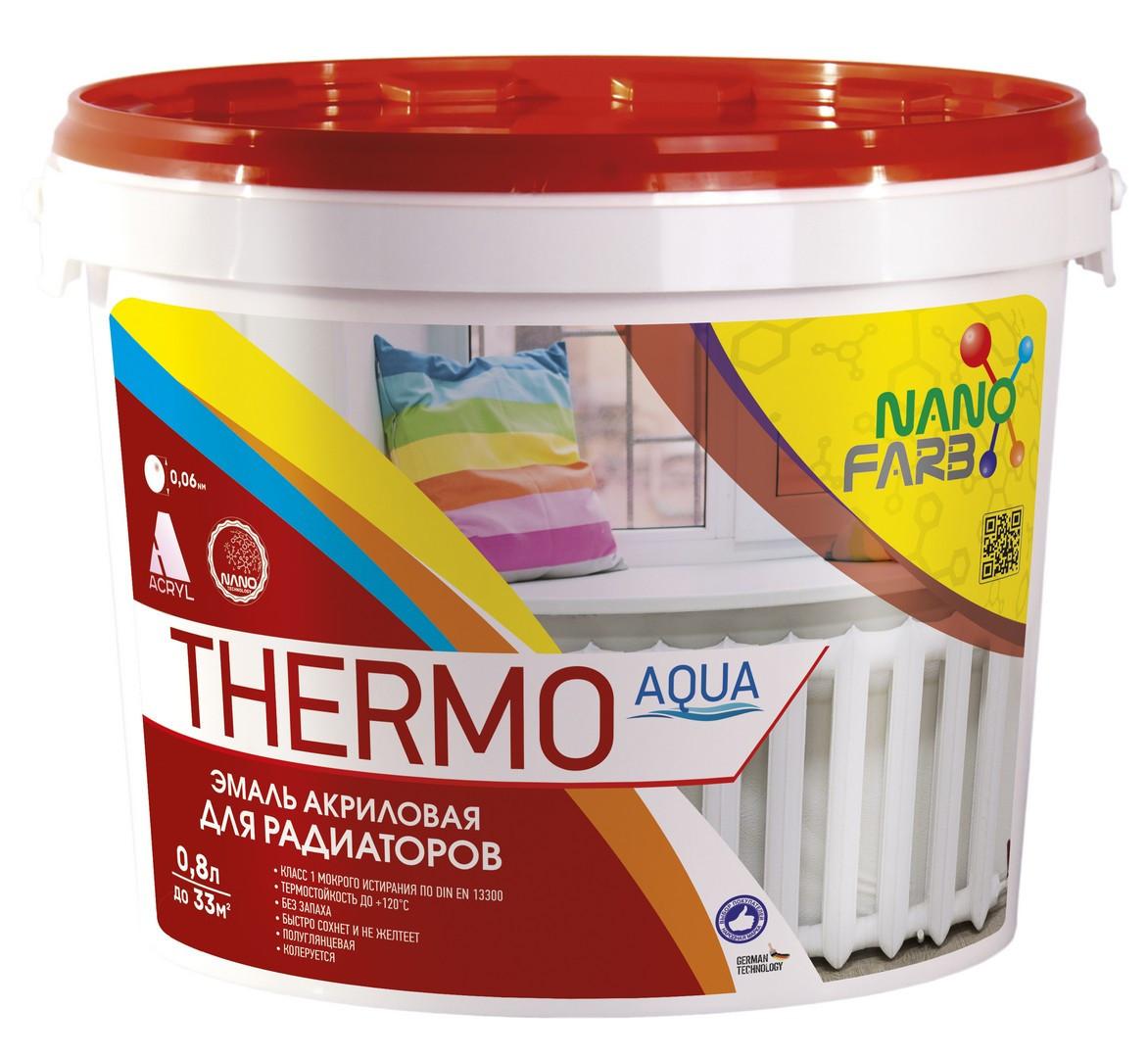 Эмаль для радиаторов Thermo Aqua Nano farb 0.8 л