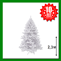 Искусственная сосна Triumph Tree Icelandic iridescent 2.3 м Белая, фото 1