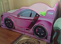 Ліжко машина з підсвічуванням фар Спорт 3