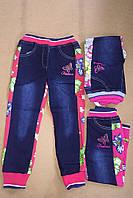 Комбинированные брюки для девочек S&D, в остатке 1 год