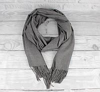 Нежный кашемировый шарф, палантин Cashmere 7480-12 серый меланж, расцветки, фото 1