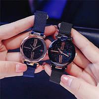 Женские часы Starry Sky Watch Gold с магнитной застежкой, наручные женские часы Стари Скай Вач СИНИЕ