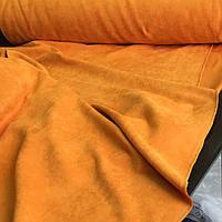 Ткань для штор микровелюр Diamond желто-горячий цвет. Ткань для штор на отрез. Турецкая ткань для штор