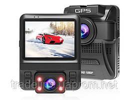 Видеорегистратор AZDOME GS65H, FullHD+720P, GPS, 2 камеры, Novatek 96655