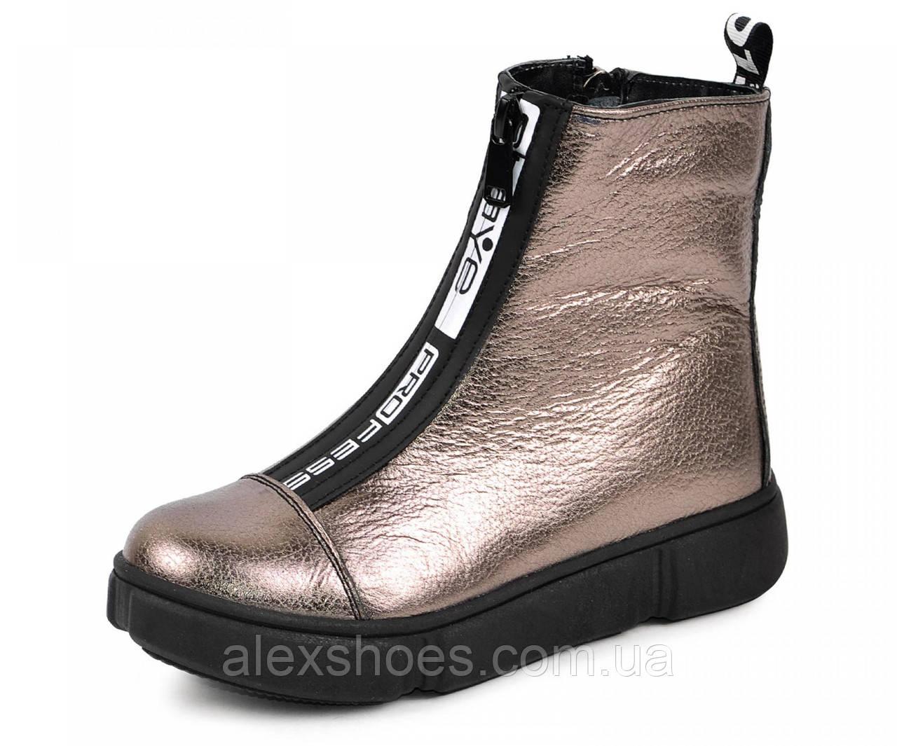 Ботинки подростковые для девочки из натуральной кожи от производителя модель МАК1571