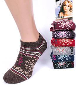 Носки женские короткие махровые из кроличьей шерсти Jujube A696. В упаковке 12 пар