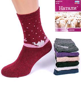 Носки женские шерсть ангора Натали В7601-4. В упаковке 12 пар. Размер 37-41.