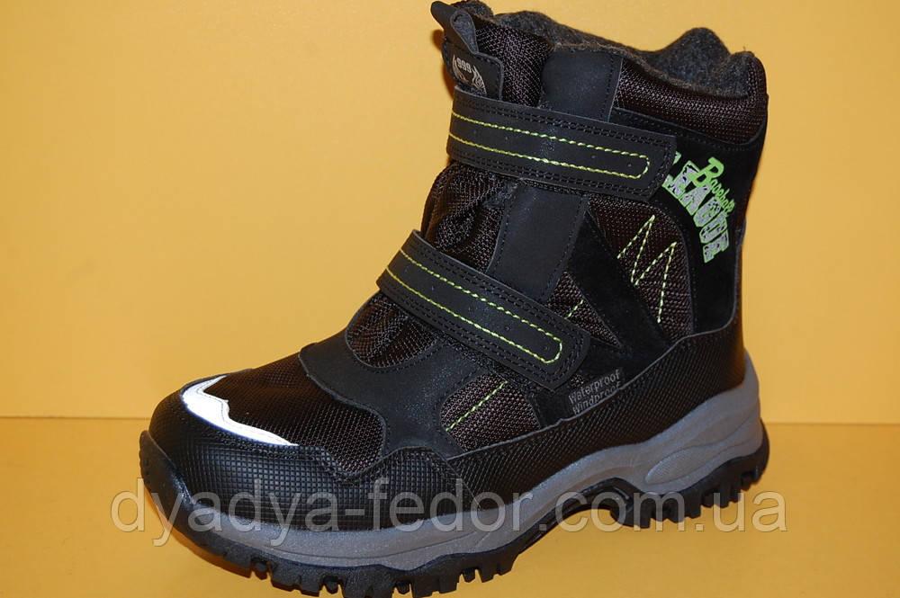 Детская зимняя обувь Термообувь Том.М Китай 3802 Для мальчиков Черные размеры 34_39