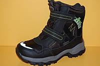 Детская зимняя обувь Термообувь Том.М Китай 3802 Для мальчиков Черные размеры 34_39, фото 1