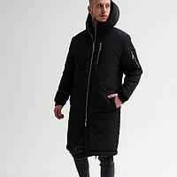 Куртка мужская зимняя парка чёрная