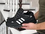 Мужские зимние кроссовки Adidas Climaproof (черно-белые), фото 2