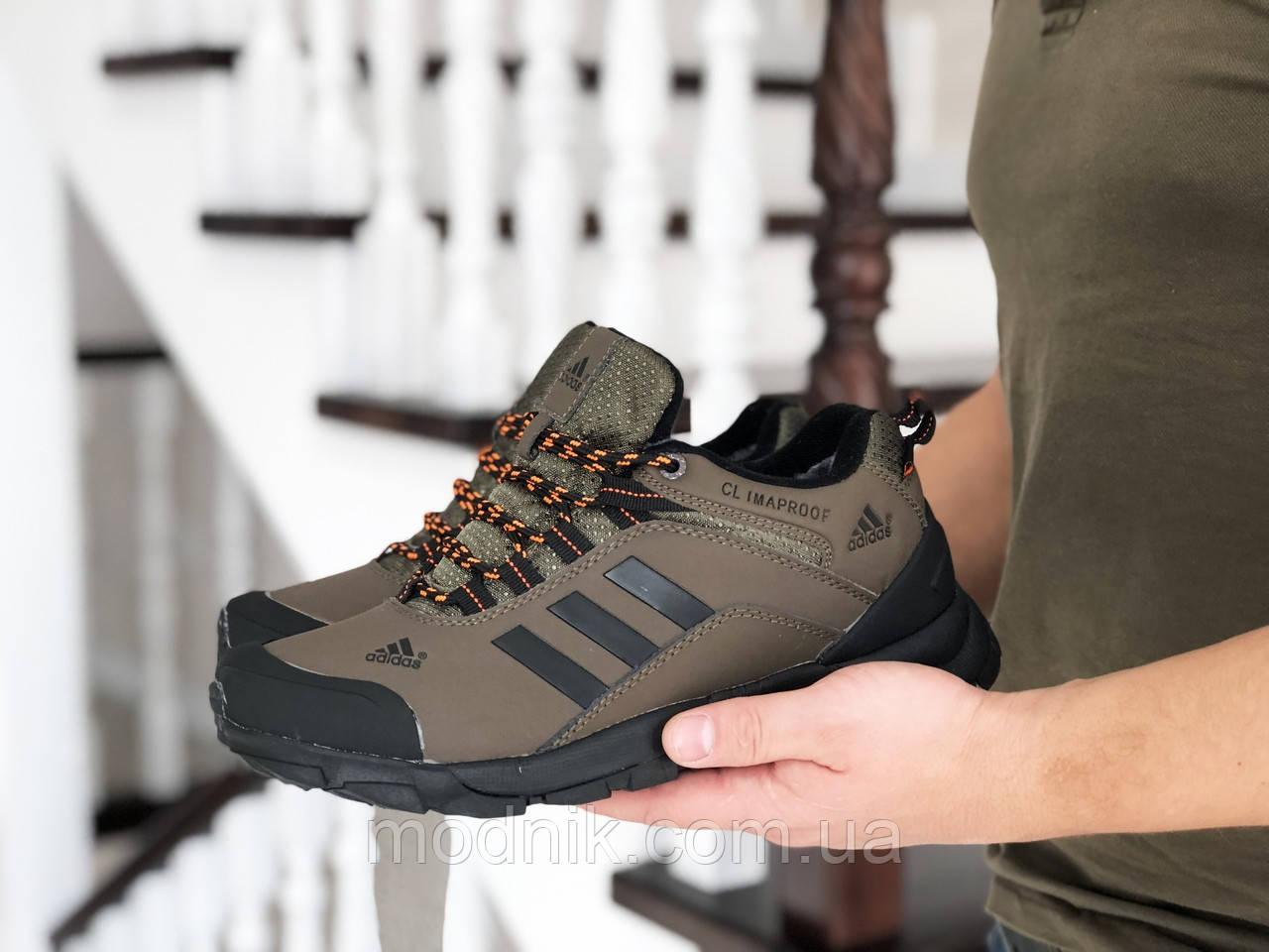 Мужские зимние кроссовки Adidas Climaproof (коричневые)