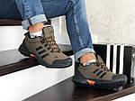 Мужские зимние кроссовки Adidas Climaproof (коричневые), фото 4