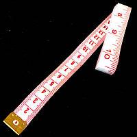 Сантиметр Швейный (дюймы + сантиметры)  длина 2м., белый