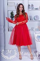 Женское платье кружево с жемчугом