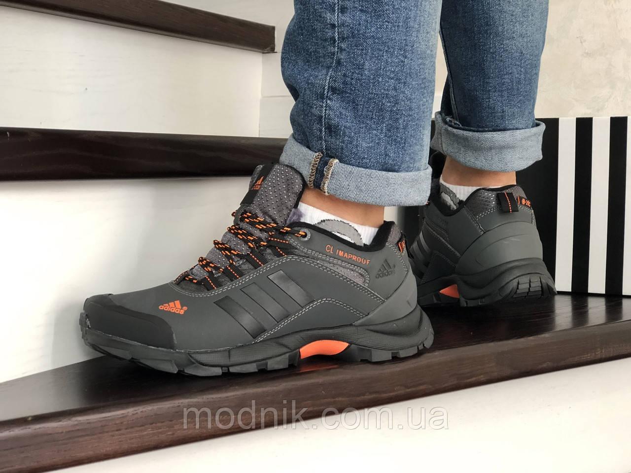 Мужские зимние кроссовки Adidas Climaproof (серые)