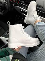 Женские ботинки Dr.Martens White \ Др.Мартенс Белые \ Жіночі черевики Др.Мартенс Білі