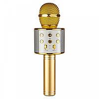 🔝 Микрофон для караоке, WSTER WS858, блютуз микрофон для пения, детский микрофон с динамиком | 🎁%🚚