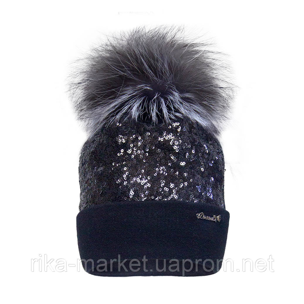 Зимняя шапка для девочки, ДевидСтар.2098, от 7 до 13 лет