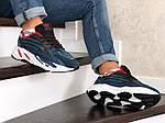 Мужские кроссовки Adidas Yeezy Boost 700 (сине-черные), фото 3