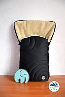 Конверт-подстилка Черный в санки, фото 1