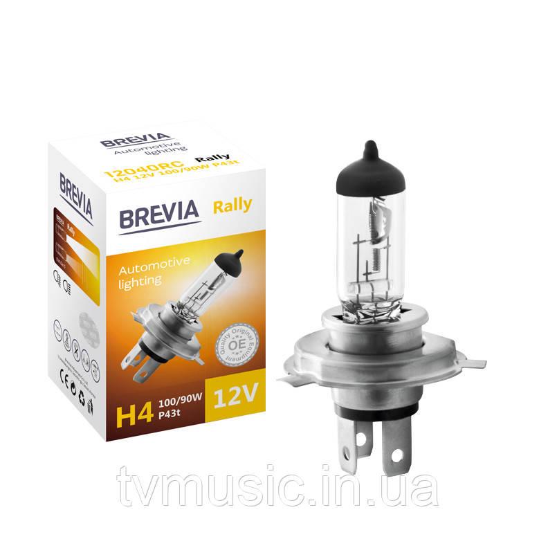 Автолампа BREVIA Rally H4 12V 100/90W 3700K