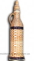 Бутылка плетёная лозой 0,5л.
