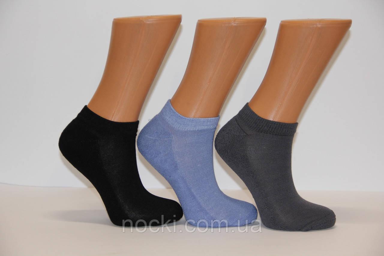 Женские носки с бамбука с махровой подошвой НЛ 36-40 ассорти