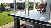 Алюминиевый карниз капельник для открытого балкона и террасы с возможностью установки водосточной системы