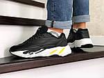 Мужские кроссовки Adidas Yeezy Boost 700 (черно-белые), фото 3
