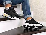 Мужские кроссовки Adidas Yeezy Boost 700 (черно-белые), фото 4
