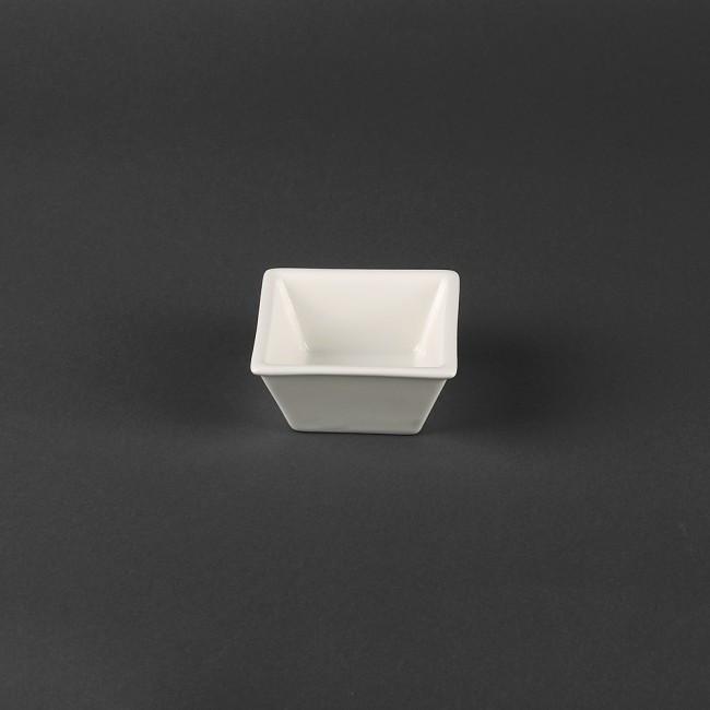 Соусник квадратный - 10 х 10 см (цвет молочный) (Helios)
