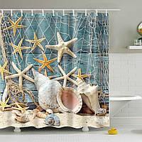Штора для ванной Морская ракушка 180 х 180 см Berni