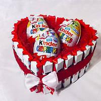 """Съедобный подарок """"Kinder"""". Вкусный подарок в форме сердца"""