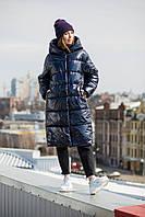 Зимняя теплая куртка KTL-323 из новой коллекции KATTALEYA темно-синего цвета