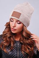 Шапка унисекс, шапка двойная вязка308 капучино. Капелюх жіночий. Цвета в ассортименте.