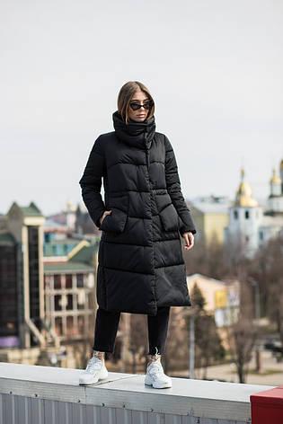 Модная удлиненная женская куртка KTL-357 черного цвета из новой коллекции KATTALEYA, фото 2