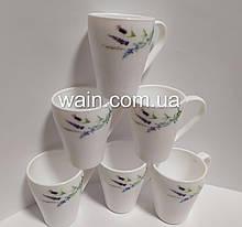 Чашки из стеклокерамики Прованс 6 шт 400 мл