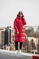Зимняя теплая куртка KTL-323 из новой коллекции KATTALEYA красного цвета