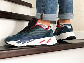 Мужские кроссовки прессованная кожа вставки эко замши разные цвета, фото 3