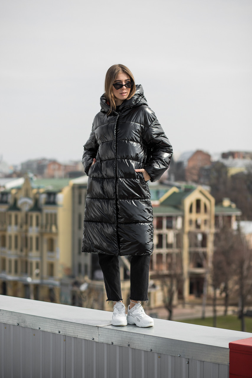 Зимняя теплая куртка KTL-323 из новой коллекции KATTALEYA черного цвета