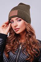 Шапка унисекс, шапка двойная вязка308 хаки. Капелюх жіночий. Цвета в ассортименте.
