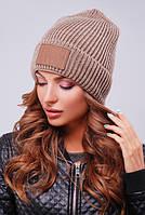 Шапка унисекс, шапка двойная вязка308 кофе. Капелюх жіночий. Цвета в ассортименте.