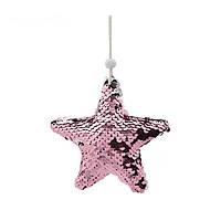 Подвеска Звезда розовая 11см 109082