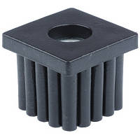 Заглушка пластиковая на трубу 30*30 с резьбой М10 черная 1.2-1.5