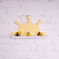 Настенная детская полка солнце  Яро желтая