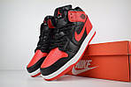 Мужские зимние кроссовки Nike Air Jordan (красно-черные), фото 2