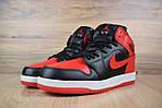 Мужские зимние кроссовки Nike Air Jordan (красно-черные), фото 3